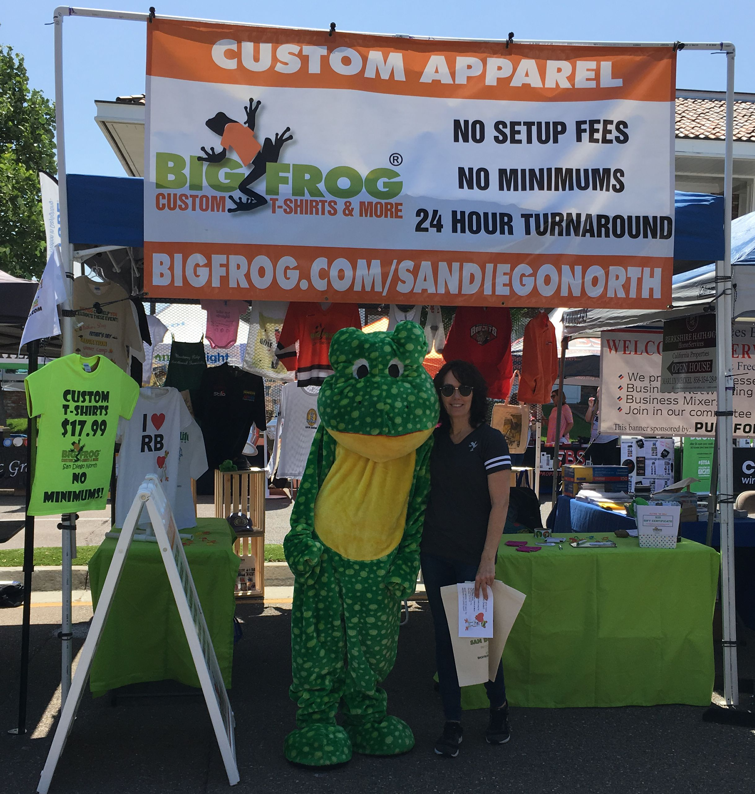 Meet sherry and craig kirkpatrick of big frog custom t for San diego custom t shirts